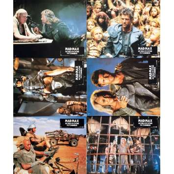 MAD MAX 3 Lobby Cards x6 - 9x12 in. - 1985 - George Miller, Mel Gibson, Tina Turner