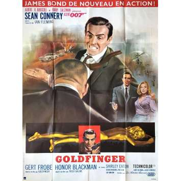 GOLDFINGER French Movie Poster 47x63- R-1970 - James Bond, Sean Connery