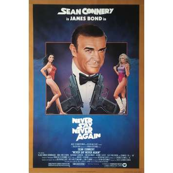 JAMAIS PLUS JAMAIS Affiche de film NSS Style - 69x104 cm. - 1983 - Sean Connery, James Bond