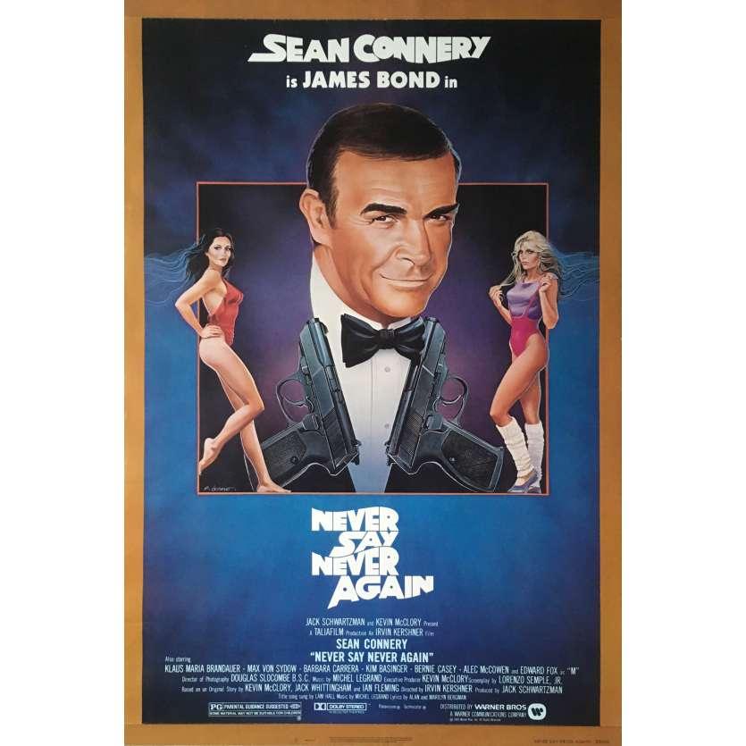 JAMAIS PLUS JAMAIS Affiche de film NSS Style - 69x104 cm. - 1983 - Sean Connery, James Bond