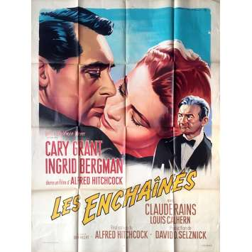 NOTORIOUS Original French Movie Poster - 47x63 in. R1963 - Alfred Hitchcock, Soubie Art