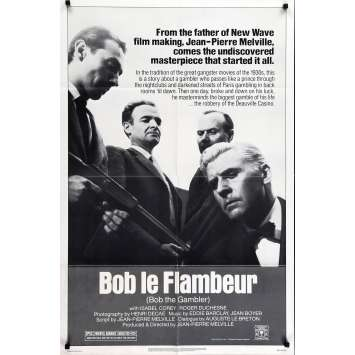BOB THE GAMBLER Movie Poster - 29x41 in. - R1980 - Jean-Pierre Melville, Roger Duchesne
