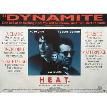 HEAT Movie Poster - 30x40 in. - 1995 - Michael Mann, Robert de Niro, Al Pacino