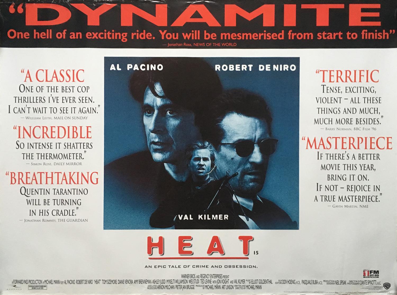 HEAT Movie Poster 30x40 in.