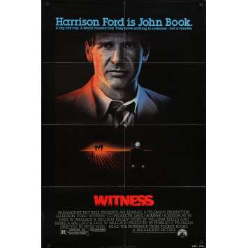 WITNESS Movie Poster - 29x41 in. - 1985 - Peter Weir, Harrison Ford