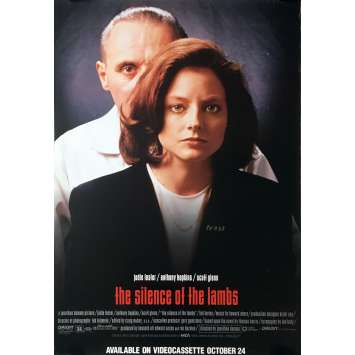 THE SILENCE OF THE LAMBS Video Poster - 29x41 in. - 1991 - Jonathan Demme, Anthony Hopkins