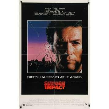 SUDDEN IMPACT Affiche de film 69x104 - 1983 - Sondra Locke, Clint Eastwood