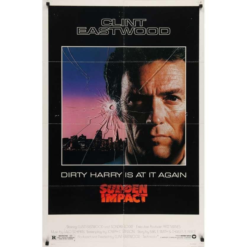 SUDDEN IMPACT US Movie Poster 29x41 - 1983 - Clint Eastwood, Sondra Locke