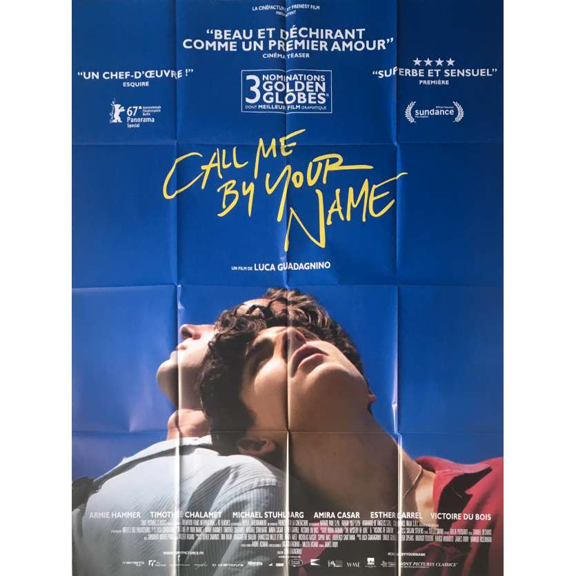 Call Me By Your Name Movie Poster 47x63 In