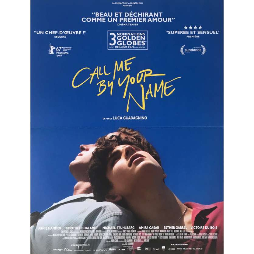 CALL ME BY YOUR NAME Movie Poster - 15x21 in. - 2017 - Luca Guadagnino, Armie Hammer