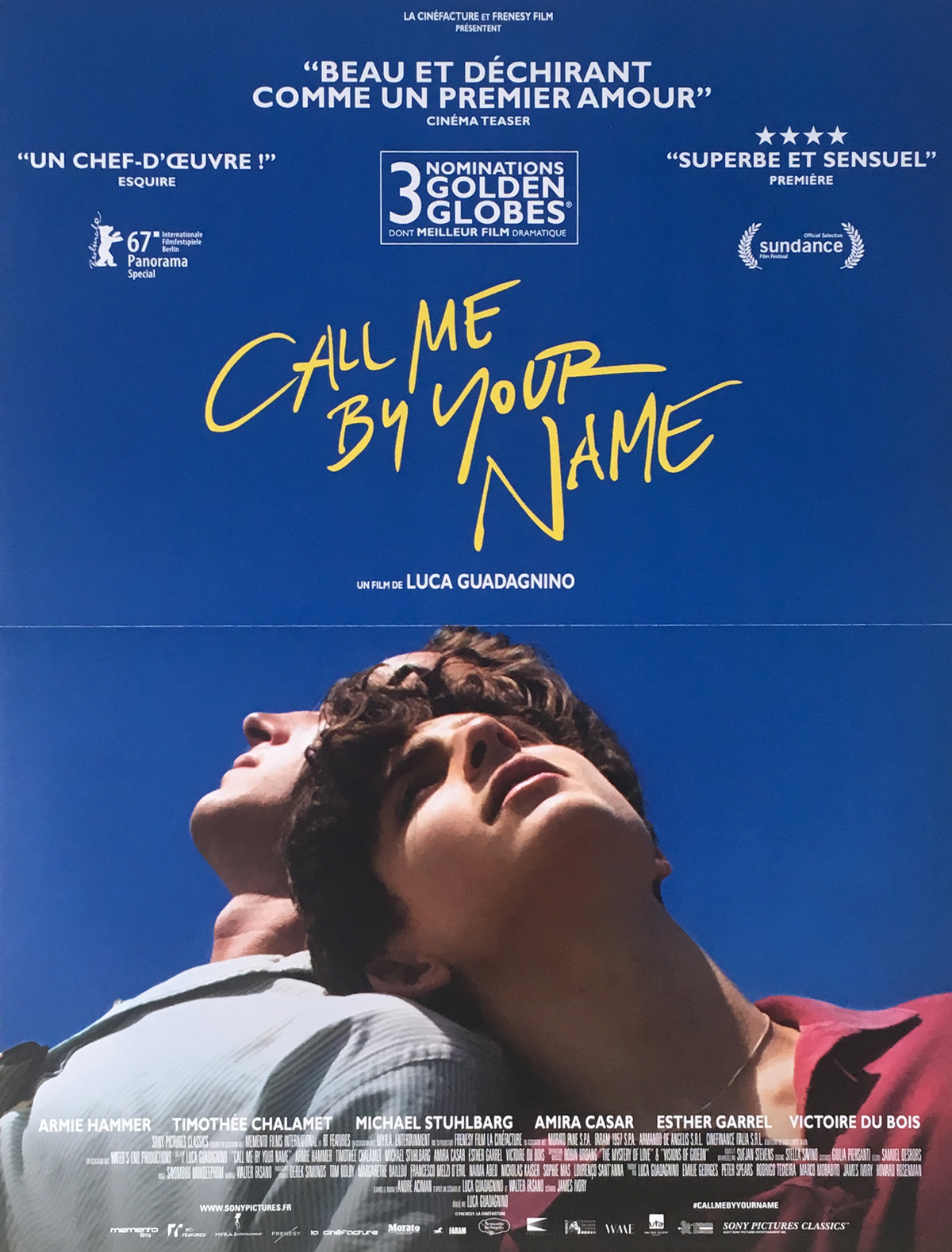 Call Me By Your Name Movie Poster 15x21 In