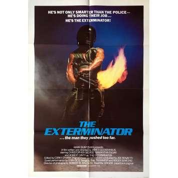 THE EXTERMINATOR Movie Poster - 29x41 in. - 1980 - James Glickenhaus, Robert Ginty