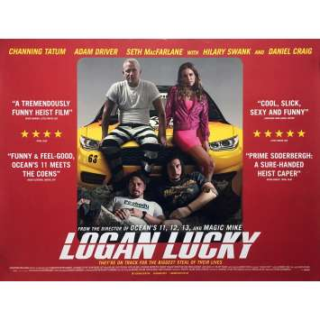 LOGAN LUCKY Movie Poster - 30x40 in. - 2017 - Steven Soderbergh, Adam Driver