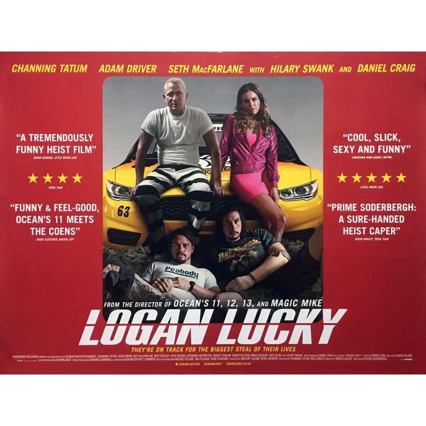 LOGAN LUCKY Affiche de film - 72x104 cm. - 2017 - Adam Driver, Steven Soderbergh
