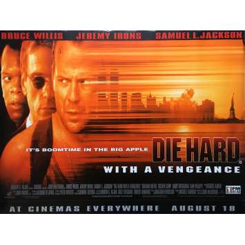 UNE JOURNEE EN ENFER Affiche de film - 72x104 cm. - 1995 - Bruce Willis, John McTiernan