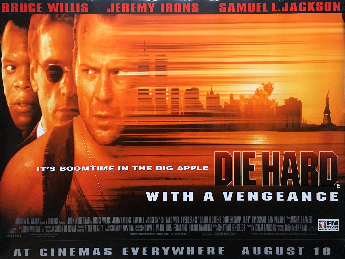 DIE HARD WITH A VENGEANCE Movie Poster 30x40 in.