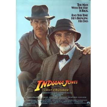 INDIANA JONES AND THE LAST CRUSADE Movie Poster Advance - 29x41 in. - 1989 - Steven Spielberg, Harrison Ford