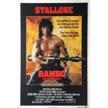 RAMBO II Affiche de film Préventive - 69x104 cm. - 1985 - Sylvester Stallone, George P. Cosmatos