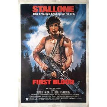 RAMBO Affiche de film - 69x104 cm. - 1982 - Sylvester Stallone, Ted Kotcheff