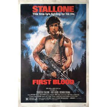 RAMBO - FIRST BLOOD Movie Poster - 29x41 in. - 1982 - Ted Kotcheff, Sylvester Stallone