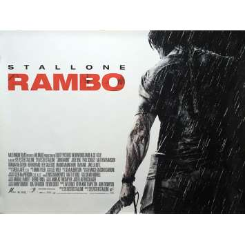 RAMBO Movie Poster - 30x40 in. - 2008 - Sylvester Stallone, Julie Benz