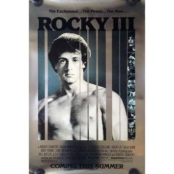 ROCKY III 3 Affiche de film Préventive métal - 69x104 cm. - 1982 - Mr. T, Sylvester Stallone