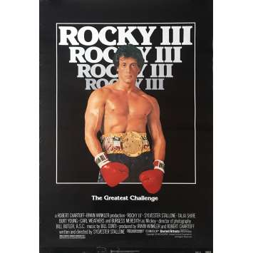 ROCKY III 3 Affiche de film - 69x104 cm. - 1982 - Mr. T, Sylvester Stallone