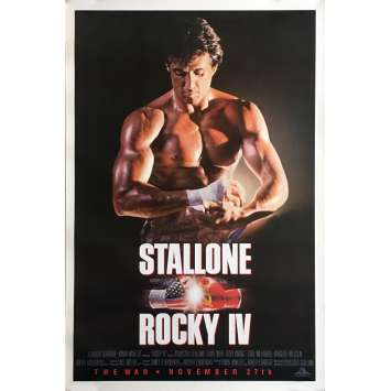 ROCKY IV Movie Poster Adv. Gloves - 29x41 in. - 1985 - Sylvester Stallone, Dolph Lundgren