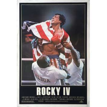 ROCKY IV Movie Poster Adv. Flag - 29x41 in. - 1985 - Sylvester Stallone, Dolph Lundgren