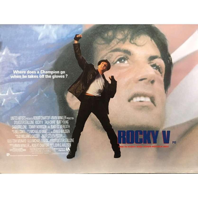 ROCKY V 5 Affiche de film - 72x104 cm. - 1990 - Sylverster Stallone, John G. Avildsen