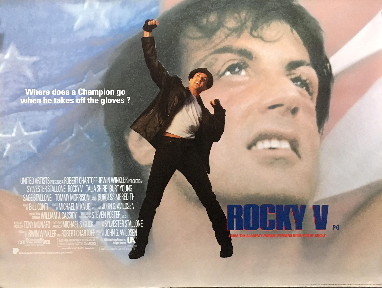 ROCKY V Movie Poster 30x40 in.