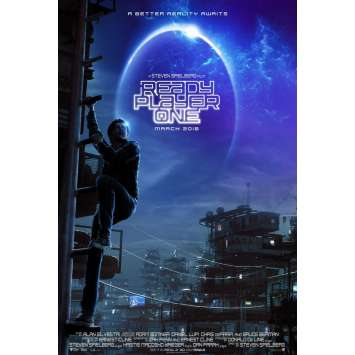 READY PLAYER ONE Advance Movie Poster - 29x41 in. - 2017 - Steven Spielberg, Olivia Cooke