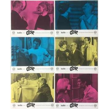 OSCAR x6 Lobby Cards - 9x12 in. - 1967 - Edouard Molinaro, Louis de Funès