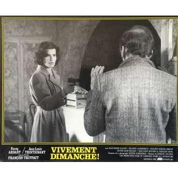 CONFIDENTIALLY YOURS N07 Lobby Card - 10x12 in. - 1983 - François Truffaut, Fanny Ardant