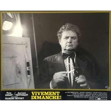 VIVEMENT DIMANCHE Photo de film N06 - 25x30 cm. - 1983 - Fanny Ardant, François Truffaut
