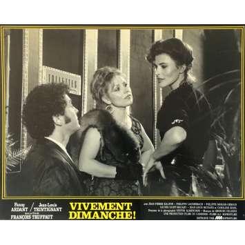 VIVEMENT DIMANCHE Photo de film N03 - 25x30 cm. - 1983 - Fanny Ardant, François Truffaut