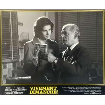 CONFIDENTIALLY YOURS N04 Lobby Card - 10x12 in. - 1983 - François Truffaut, Fanny Ardant