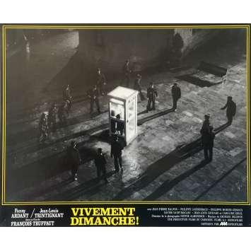 VIVEMENT DIMANCHE Photo de film N02 - 25x30 cm. - 1983 - Fanny Ardant, François Truffaut