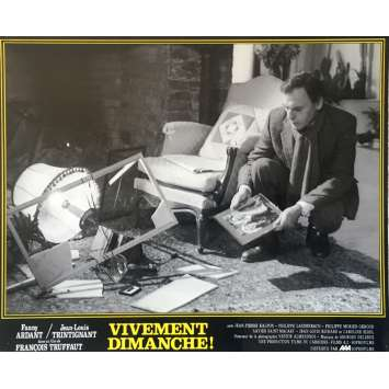 CONFIDENTIALLY YOURS N01 Lobby Card - 10x12 in. - 1983 - François Truffaut, Fanny Ardant