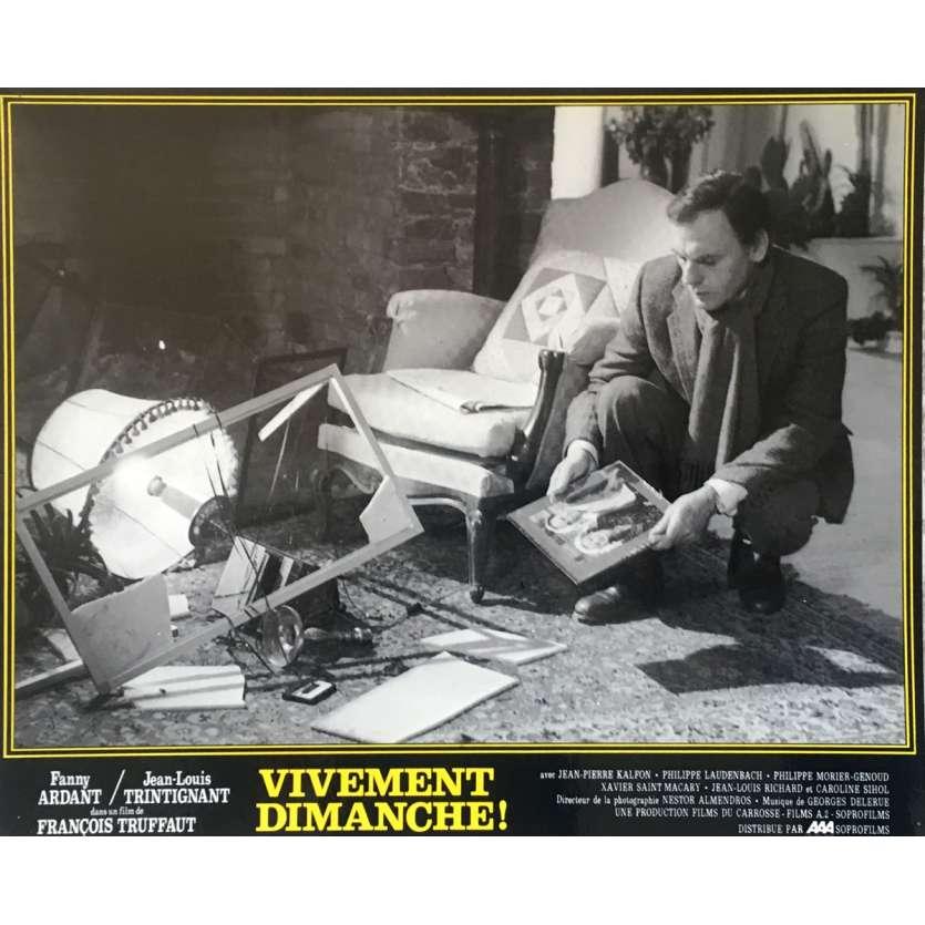VIVEMENT DIMANCHE Photo de film N01 - 25x30 cm. - 1983 - Fanny Ardant, François Truffaut