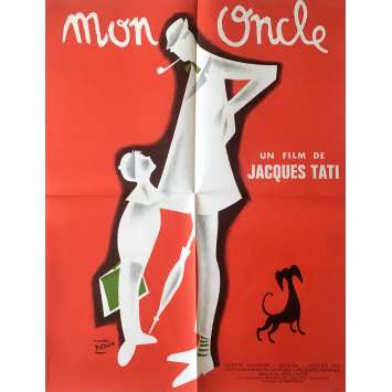 MON ONCLE Movie Poster - 23x32 in. - 1958 - Jacques Tati, Jean-Pierre Zola