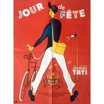 JOUR DE FETE Affiche de film 60x80 cm - R1970 - Paul Frankeur, Jacques Tati