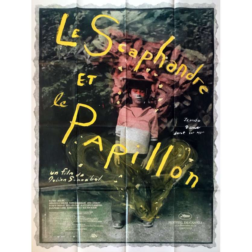THE DIVING BELL AND THE BUTTERFLY French Movie Poster 47x63 '07 Julian Schnabel
