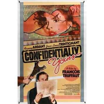 VIVEMENT DIMANCHE Affiche de film 69x104 - 1983 - Fanny Ardant, François Truffaut