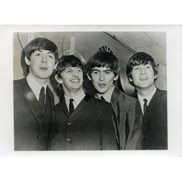 QUATRE GARÇONS DANS LE VENT Photo de presse N10 - 12x16,5 cm. - 1964 - The Beatles, Hard Day's Night