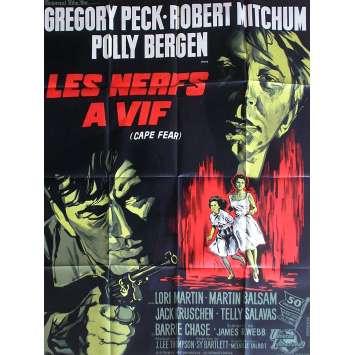 LES NERFS A VIF Affiche de film 120x160 - 1962 - Robert Mitchum, J. Lee Thompson