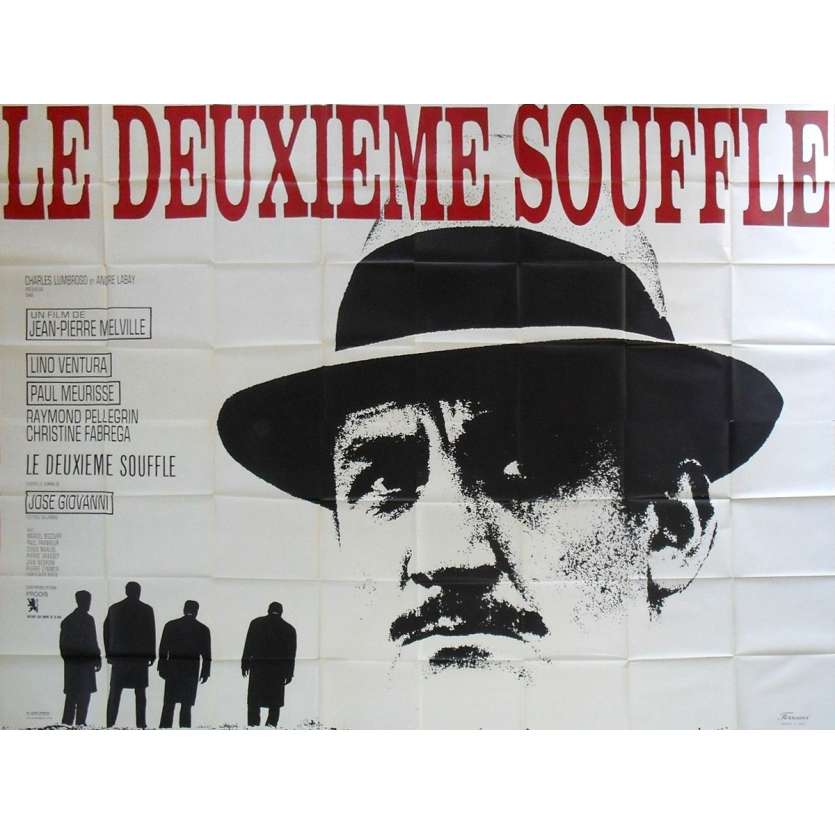 LE DEUXIEME SOUFFLE Affiche de film - 240x320 cm. - 1966 - Lino Ventura, Jean-Pierre Melville