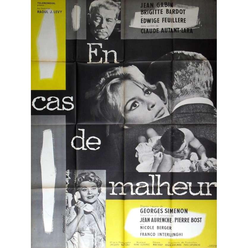EN CAS DE MALHEUR Affiche de film - 120x160 cm. - R1960 - Jean Gabin, Brigitte Bardot, Claude Autant-Lara
