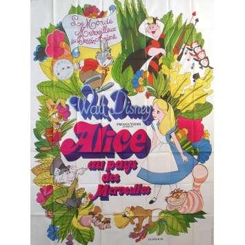 ALICE AU PAYS DES MERVEILLES Affiche de film - 240x320 cm. - R1970 - Ed Wynn, Walt Disney