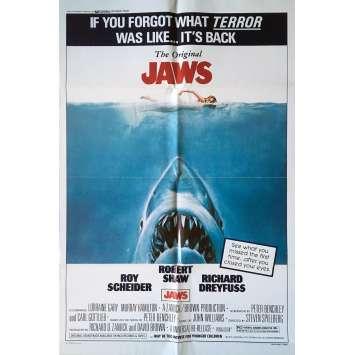 JAWS Movie Poster - 29x41 in. - 1975 - Steven Spielberg, Roy Sheider